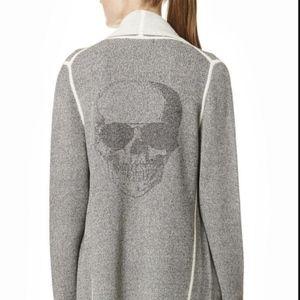360 Skull cashmere cardigan sweater.